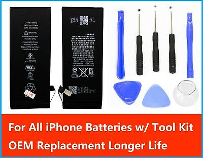 Genuine Replacement OEM iPhone Battery 4 SE 5 6 6S 7P 8 Plus Li-ion 3.7V + Tools