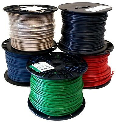 500 ft 12 AWG SOLID Copper THHN THWN Wire - Black Blue Red Green White- USA MADE