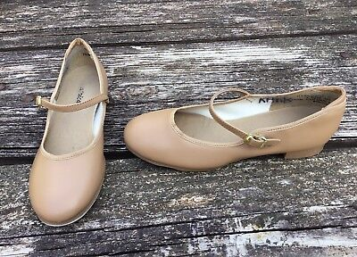 Theatricals Big Girls Tap Dance Tan Shoes Size 4.5
