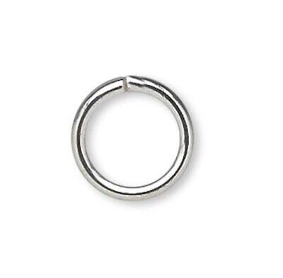 Oval Jump Rings Plated Oval Open Jumprings 18 gauge 1.02mm Thick PKG 100