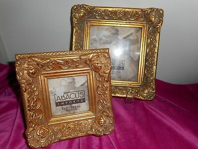Pair of antique style ornate picture frames