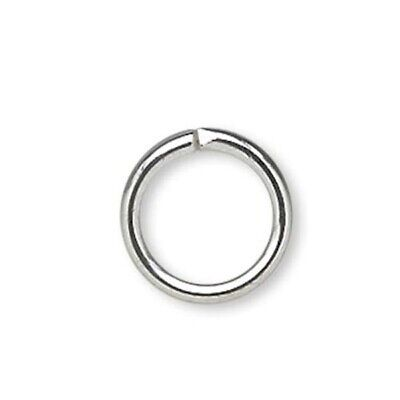 1440 Silver Plated Brass 6mm Round Jumprings / 20 Gauge  *