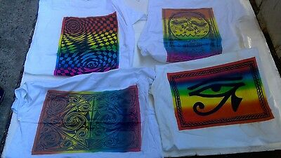 8 PSYCHEDELIC VINTAGE 90s EU SHIRT XL SPLIT FOUNTAIN STAINS PICK ONE RARE HTF!