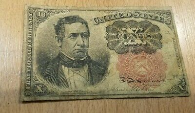 10-Cents Fractional Currency 5th Issue 1874-1876 Red Seal note
