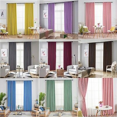 1x2m Modern Window Blackout Curtain Panel Bedroom Balcony Drape Room  Decor Home