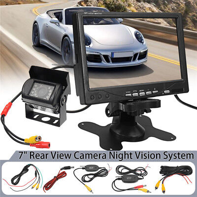 7'' Monitor Wireless Rear View Backup Camera Night Vision System For RV Truck