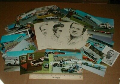 70 diff Nascar racing vtg old Dodge Ford Chevy postcard handout lot 1968-1970s