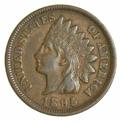 SHARP - 1895 - Indian Head Cent - Great Detail in Liberty - Tough Grade *989