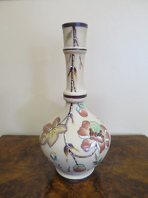 Poschinger Krystallie Hand Painted Satin Glass Vase-PK backstamp.