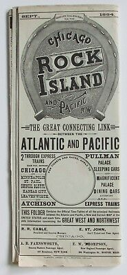 CRI&P Chicago Rock Island & Pacific RR - System Time Table - September 1884