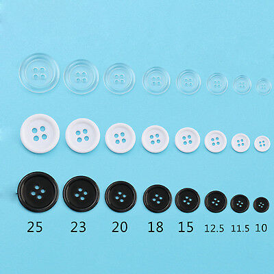 100pcs 10mm,11.5mm,12.5mm sewing Buttons Replacement Buttons 4 Holes 3 Colors