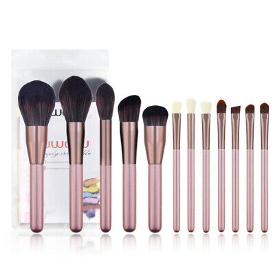 10pcs Pro Makeup Brush Set Cosmetic Foundation Blending Brushes Kabuki Black