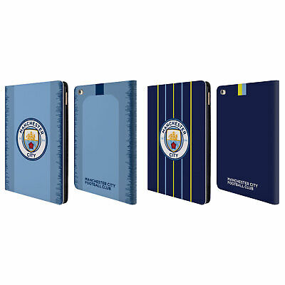 MANCHESTER CITY MAN CITY FC 2018/19 BADGE KIT LEATHER BOOK CASE FOR APPLE iPAD
