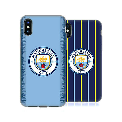 MANCHESTER CITY MAN CITY FC 2018/19 BADGE KIT GEL CASE FOR APPLE iPHONE PHONES