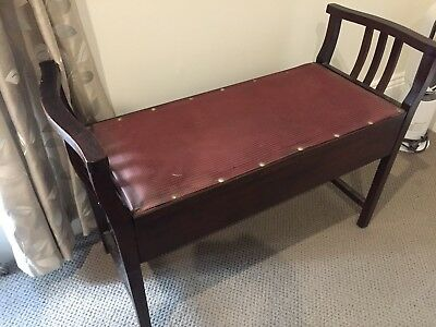 vintage piano stool bench 1930's