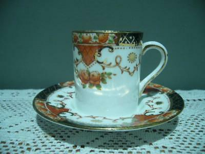Sutherland China Demitasse / Espresso Duo - Imari - Hand Painted - Vintage