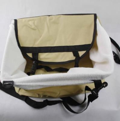 Pet Booster Seat Travel Carrier Faux Lining Safety Leash  Zipped Compartment