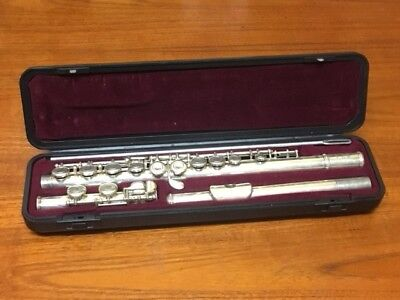 Yamaha F100SII Student Flute Silver Plated W/ Case Made in Japan