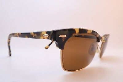 Vintage B&L Ray Ban Clubmaster Square sunglasses W1483 X0AW etched BL lens USA