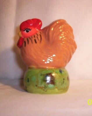Chicken E324 T250 Ceramic Indy Red Rooster Pie Bird