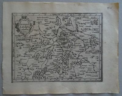 Lübeck Celle Spandau Kupferstichkarte Mercator Hondius 1609 - Atlas Minor