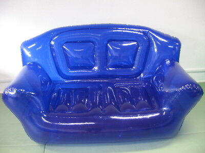Aufblasbar Sofa Couch 2 Er  HELLBLAU#2 GROSS   RAR!   Inflatable