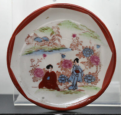 Old Japanese Hand Painted Porcelain Plate Circa 1890s Excellent Condition #p1