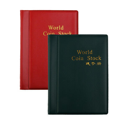 2x 60 Pockets Paper Money Collection Album Stamps Book Soft Leather Notes #A