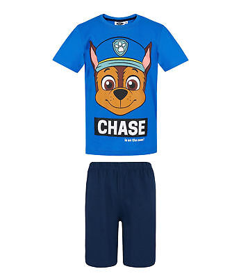 Boys Official Licensed Paw Patrol Chase Short Sleeve Pyjamas PJs