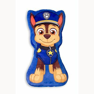 PAW PATROL CHASE SHAPED FILLED CUSHION CHILDRENS 44cm x 24cm