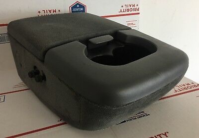 1997-2003 Ford F150 F-150 Center Console Dual Cup Holder Armrest Arm Rest Grey!