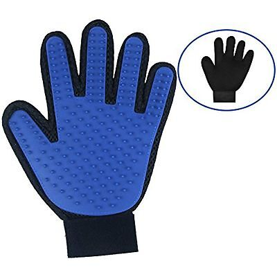 Dog Grooming Glove Mitt Pet Dog Cat Massage Groom Hair Remover Brush LEFT HAND