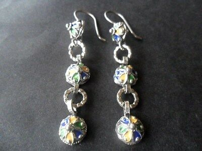 Boucles D'oreilles Kabyle Argent Massif Bijou Berbere Silver Ethnic Africa Jewel