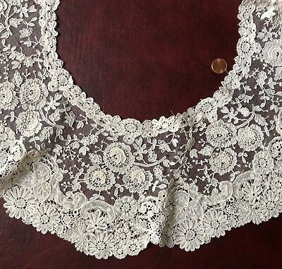 Victorian Mixed Brussels Duchesse and Point de Gaze lace BERTHE COSTUME COLLECT