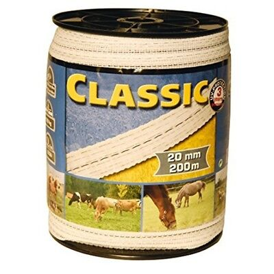Corral Classic Fencing Tape 200m x 10mm - Equine Horse