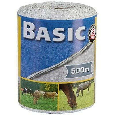 Corral Basic Fencing Polywire White x 500 Metres - 500m Electric 250m