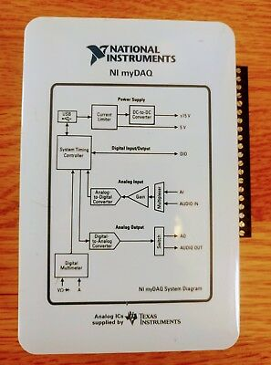 NI myDAQ, National Instruments, Includes NI Circuit Design Software and LabVIEW