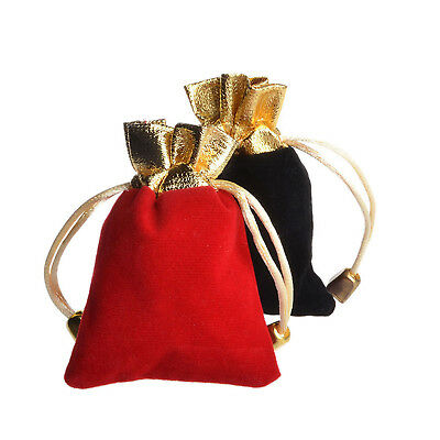 Us Lots Gold Trim Velvet Bags Jewelry Wedding Party Favor Gift