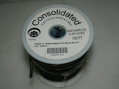 Consolidated Tinned Copper Hook Up Wire 18 AWG 65 Strand 100 Ft. Long 1009-0-100