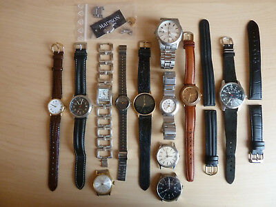 Lot Sammlung Armbanduhren SEIKO sOliver Madison Dugena etc