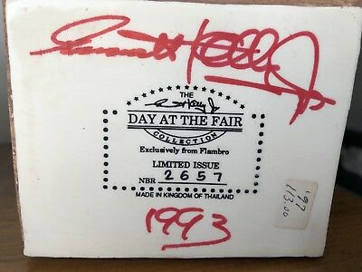 SIGNED Flambro Emmett Kelly Jr Day At The Fair 2657 HOUSE OF MIRRORS Figurine