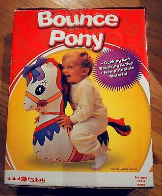 Inflatable Bounce Pony Rocker Global Products 1 - 4 years New Retro Styled
