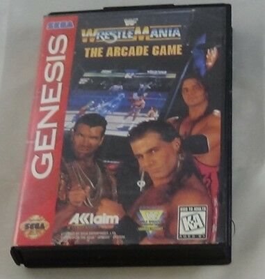 Wrestle Mania The Arcade Game A Little Beat Up But Complete Sega Genesis Tested