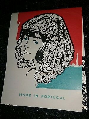 Vintage Mantilla Head Scarf Black Lace Veil Org. Box with Tag Made in Portugal