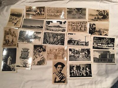 1940s vtg HAWAII Men Women BLACK WHITE PHOTOS. US Navy Photographs. 22 PICTURES