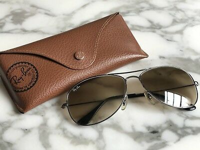 6fb384186 RAY BAN Sunglasses COCKPIT Silver RB 3362 004/51 Brown Gradient Lenses 59mm