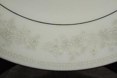 Vintage Fine China CHANTILLY Yung Shen White Floral Platinum DINNER PLATES Lot B