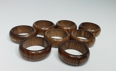 SET Of 8 Wood NAPKIN RINGS Decoration Pieces