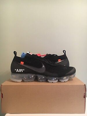 61ca46e1c87 THE 10  NIKE x Off-White Air Vapormax Part 2 Black AA3831-002 Size ...