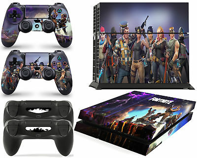 PS4 Console FORTNITE Skin Decal Vinal Sticker + 2 Controller Skins Set